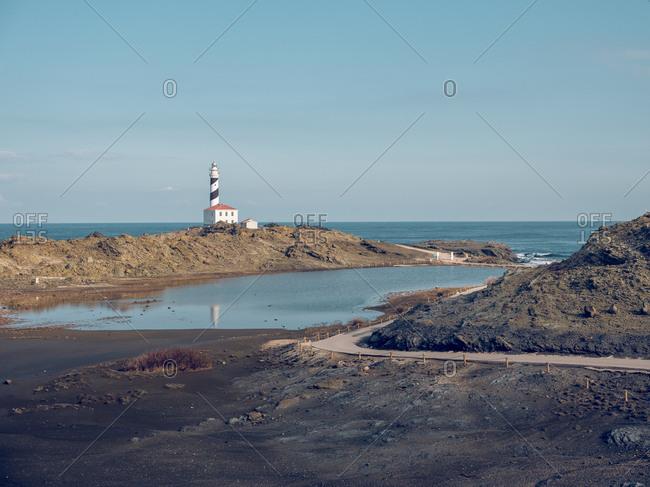 Rocky coast and beacon tower