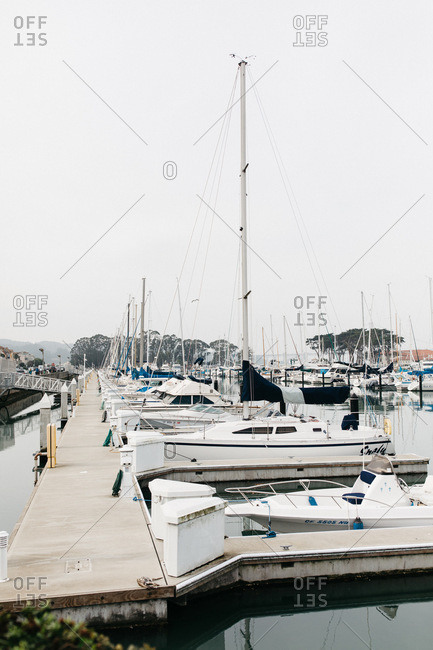 San Francisco, California - January 15, 2018: Boats in a marina in San Francisco