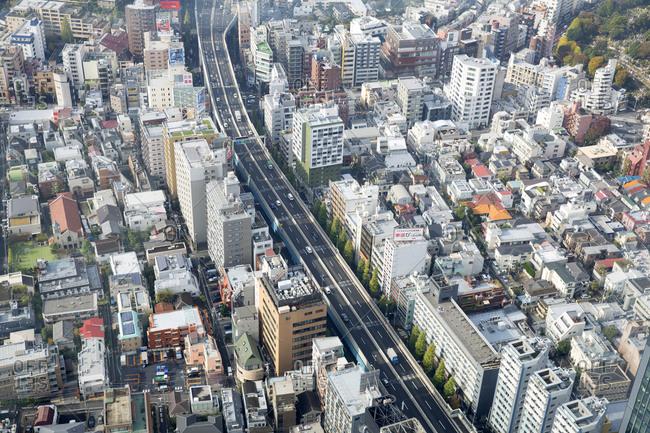 Tokyo, Japan - November 23, 2015: Tokyo city center buildings