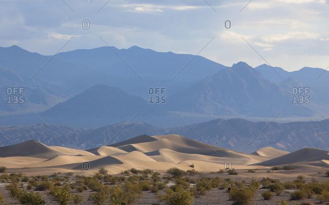 Death Valley sand dunes in California