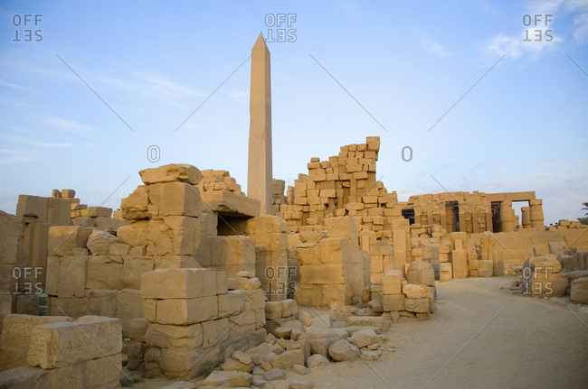 Remains of the Karnak temple complex, Luxor, Egypt