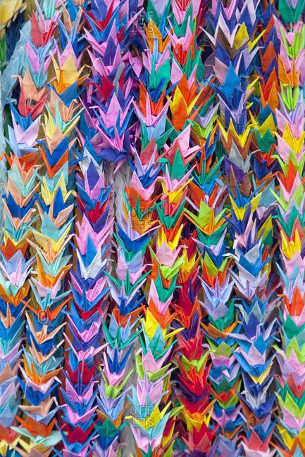 Peace paper cranes, Kyoto, Japan