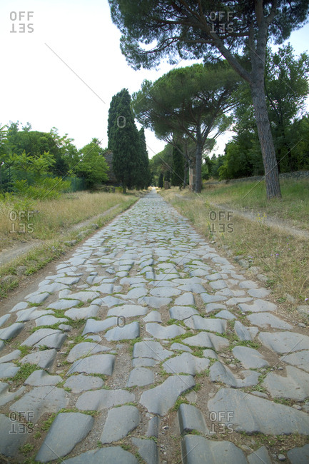 Appian way, an ancient road in Rome, Italy
