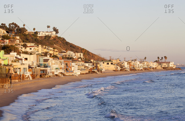 Malibu beach in Los Angeles, California