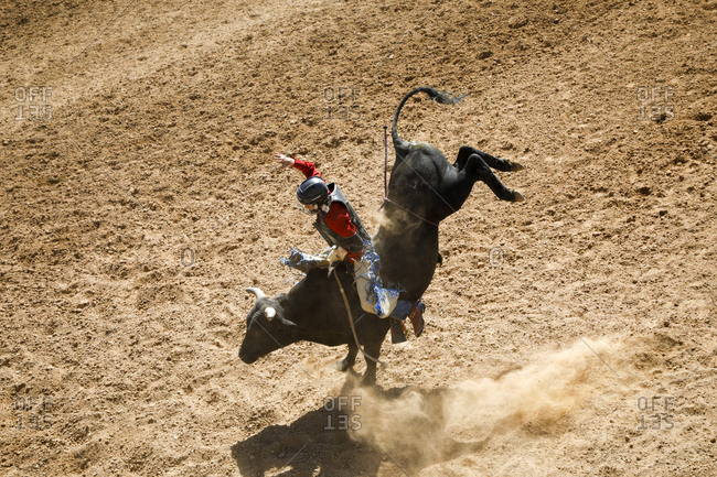 Taos, New Mexico, USA - June 18, 2018: Small town rodeo action