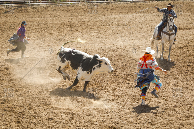 Taos, New Mexico, USA - June 18, 2018: Small town rodeo