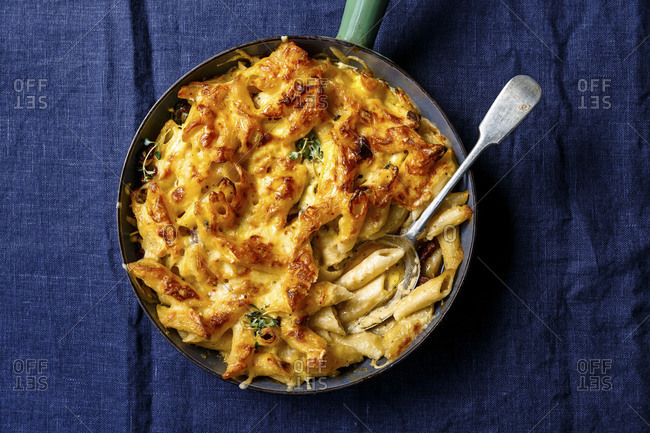 Gooey mac and cheese from above