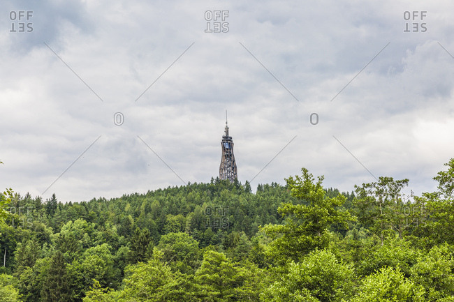 Austria- Carinthia- Observation tower Pyramidenkogel