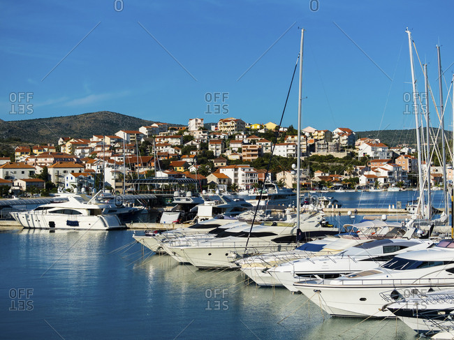June 22, 2015: Croatia- Dalmatia- Adriatic Sea- Rogonizca- Yachts at marina
