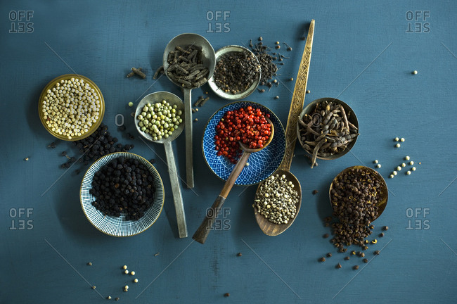 Various sorts of pepper