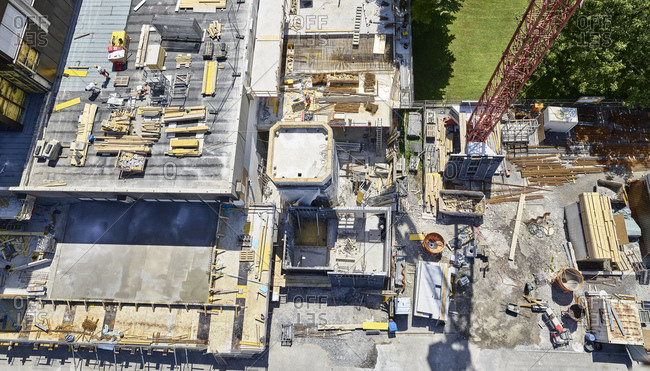 Construction site- view from above