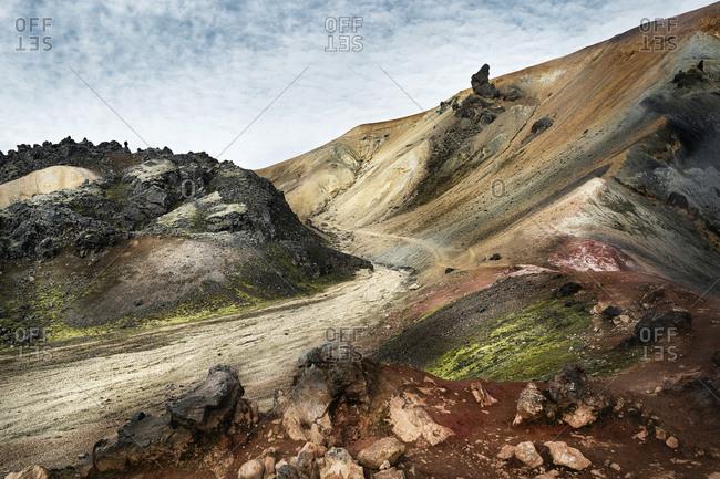 Iceland- South West- Landmannalaugar- landscape and path