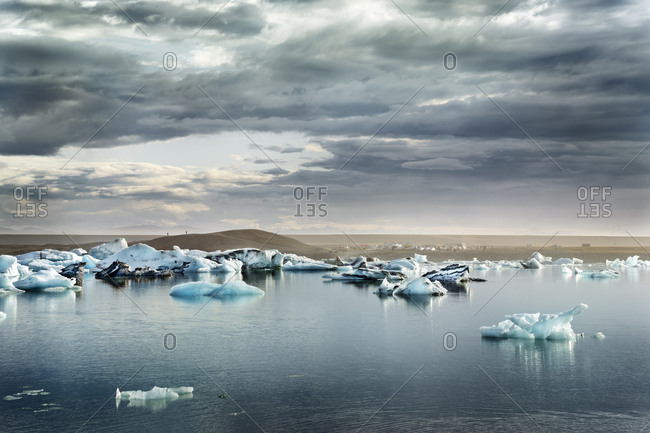 Iceland- South of Iceland- Joekulsarlon glacier lake- icebergs