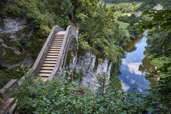 Germany- Baden-Wurttemberg- Sigmaringen district- Devil's bridge at the Hollschlucht