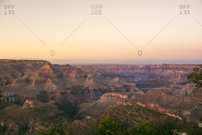 USA- Arizona- Grand Canyon National Park- Grand Canyon at sunset