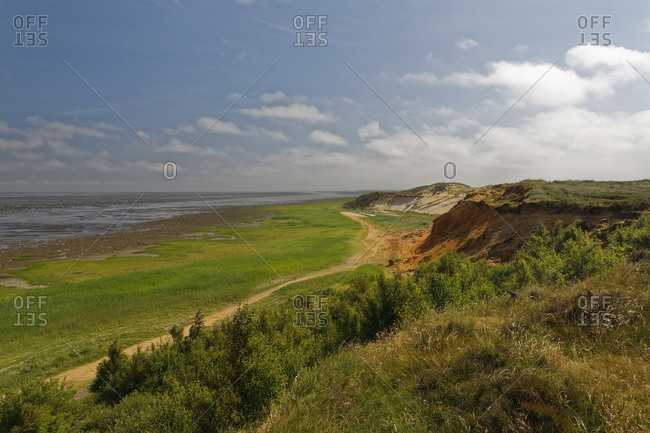 Germany- North Frisia- Sylt- Cliff coat near Morsum