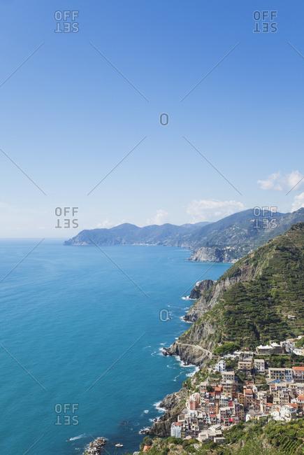 Italy- Liguria- Cinque Terre- Riomaggiore- Riviera di Levante- Mediteranean Sea