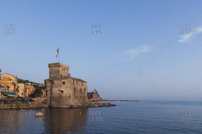 August 30, 2017: Italy- Liguria- Rapallo- Castello sul Mare- Golfo del Tigullio