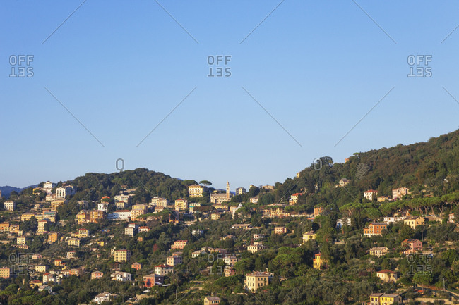 Italy- Liguria- mountain village near Camogli