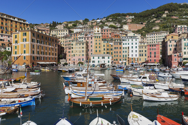 September 3, 2017: Italy- Liguria- Camogli- harbor