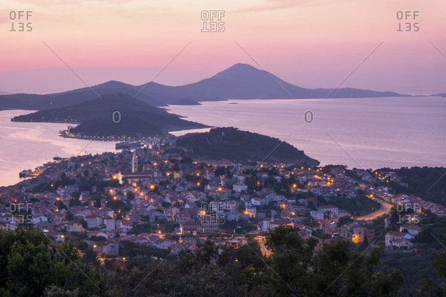 Croatia- Istria- Losinj- Mali Losinj at sunset