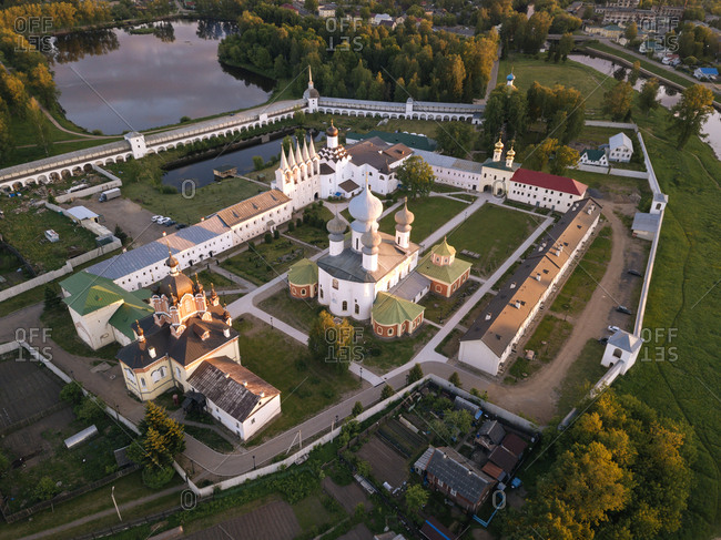 Russia- Leningrad Oblast- Tikhvin- Uspenski Cathedral in the evening light