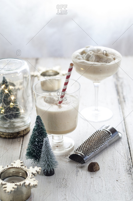 Glass of eggnog at Advent