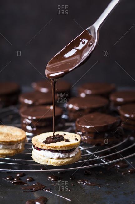 Preparing Wagon Wheel Cookies