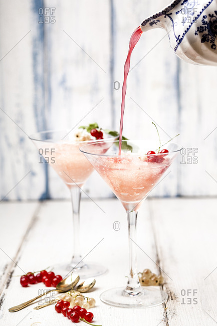 Frose- rose slushie with red currants