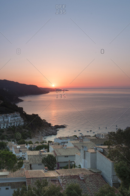 Spain- Catalonia- Costa Brava at sunrise