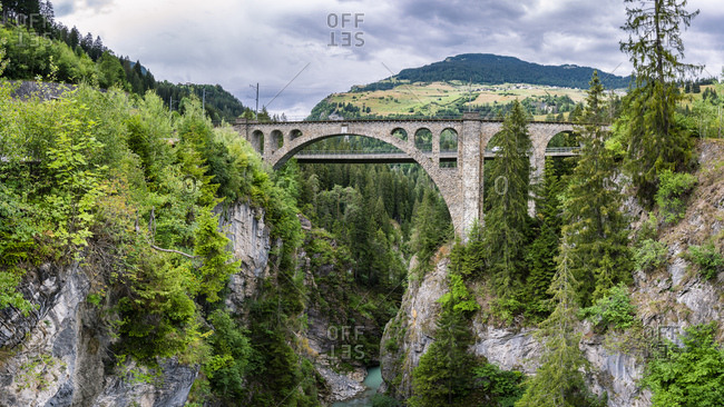 Switzerland- Graubuenden Canton- Solis Viaduct