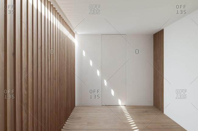 Minimalist hallway inside modern home