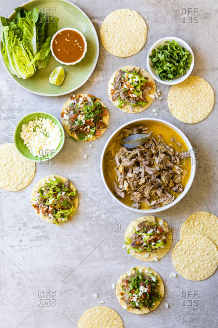 Mexican slow cooked pulled pork