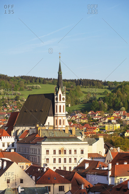 Church of St. Vitus, Cesky Krumlov, UNESCO World Heritage Site, South Bohemia, Czech Republic, Europe