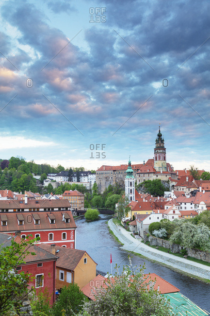 April 28, 2018: Cesky Krumlov Castle dating back to 1240, Cesky Krumlov, UNESCO World Heritage Site, South Bohemia, Czech Republic, Europe