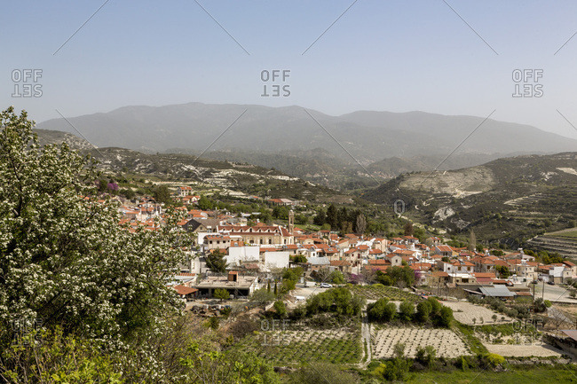 The Monastery in the center of the historic village of Omodos in the Troodos mountains, Cyprus, Mediterranean, Europe