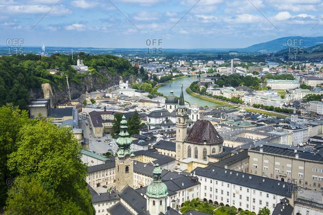 May 11, 2018: View over Salzburg, Austria, Europe