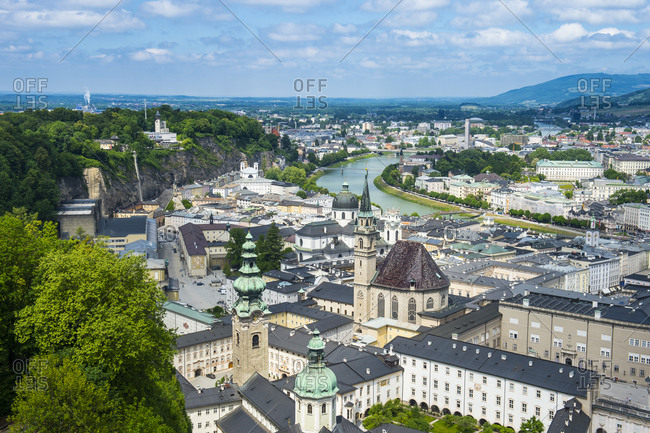 May 11, 2018: View over Salzburg, Austria, Europe