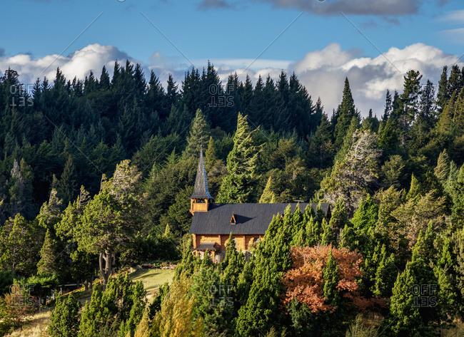 San Eduardo Church, Llao Llao, Nahuel Huapi National Park, Rio Negro Province, Argentina, South America