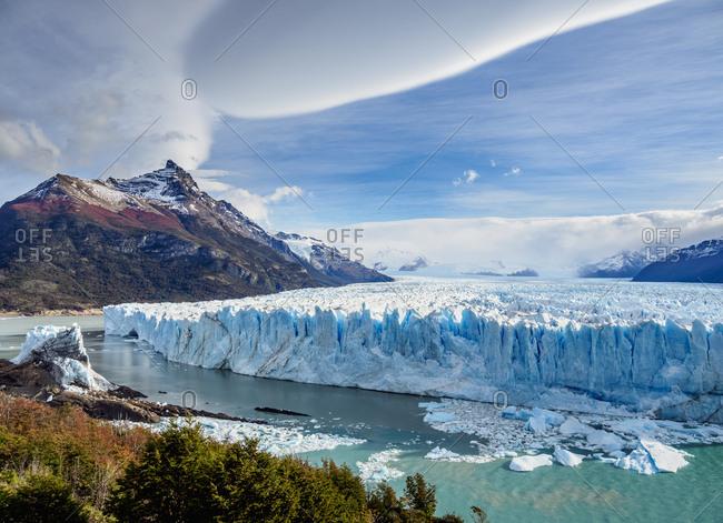 Perito Moreno Glacier, elevated view, Los Glaciares National Park, UNESCO World Heritage Site, Santa Cruz Province, Patagonia, Argentina, South America