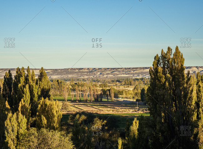 Chubut Valley, elevated view, Gaiman, The Welsh Settlement, Chubut Province, Patagonia, Argentina, South America