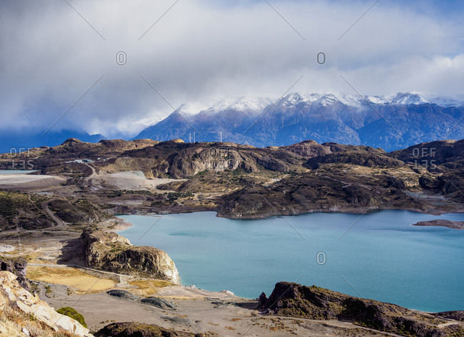 Laguna Verde, elevated view, General Carrera Province, Aysen Region, Patagonia, Chile, South America