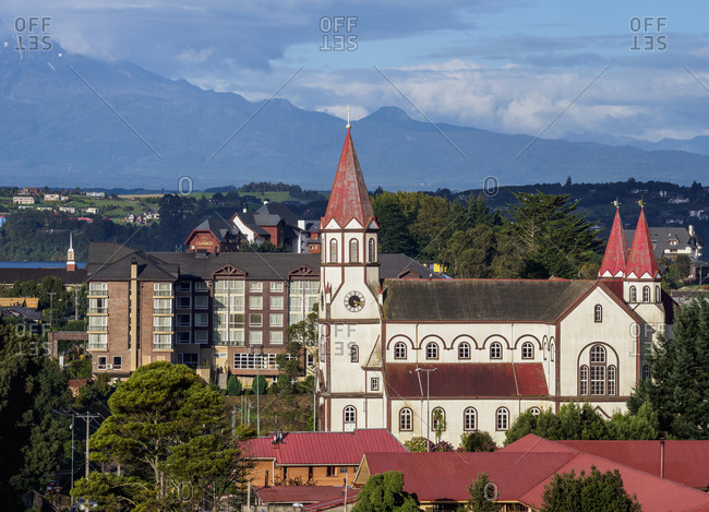April 22, 2018: Sagrado Corazon de Jesus Church, Puerto Varas, Llanquihue Province, Los Lagos Region, Chile, South America