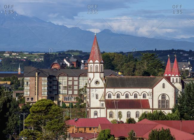 April 22, 2018: Sagrado Corazon de Jesus Church, Puerto Varas, Llanquihue Province, Los Lagos Region, Chile, South America