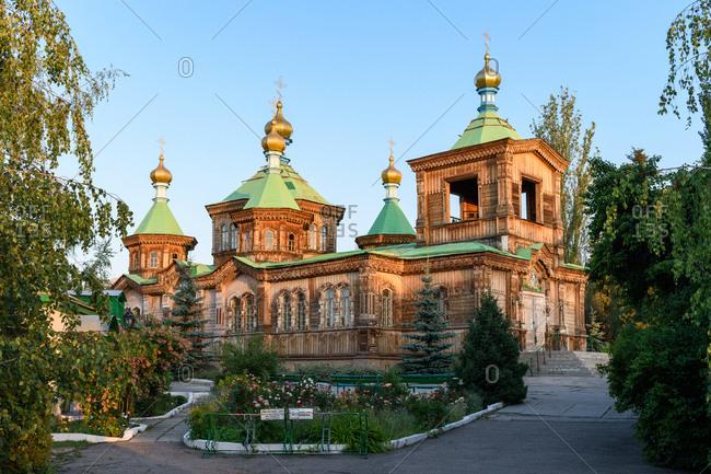 Karakol, Kyrgyzstan - July 22, 2018: Holy Trinity Cathedral