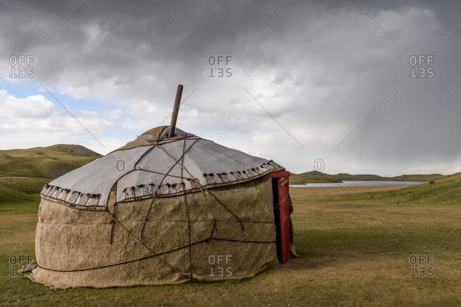 Yurt near Lenin Peak and Lake Tulpar-Kol
