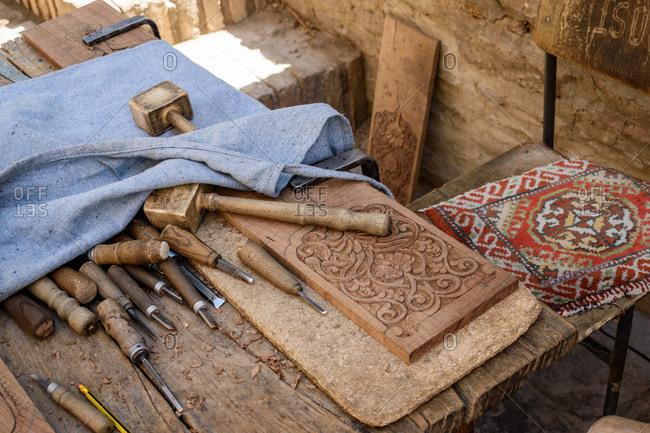 Woodworking tools, Khiva, Uzbekistan