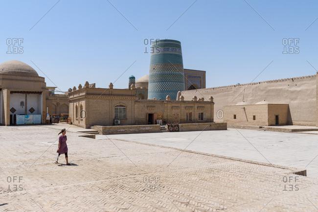 Khiva, Uzbekistan - August 6, 2018: Kalta Minor