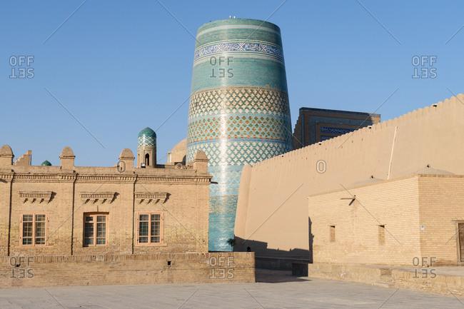 Khiva, Uzbekistan - August 8, 2018: Kalta Minor in Khiva, Uzbekistan