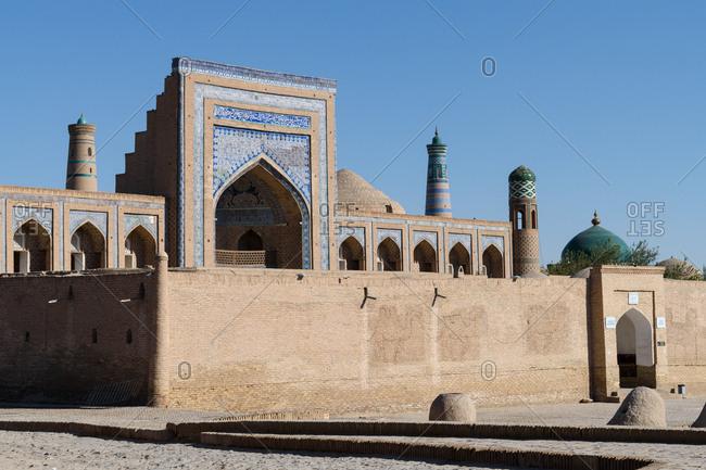 Khiva, Uzbekistan - August 7, 2018: Mohammed Amin Khan Madrassah
